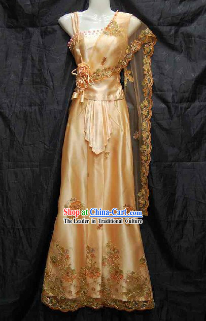 Traditional Water-Sprinkling Festival Dress for Women