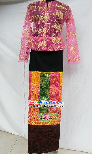 Traditional Thai Clothing Costume Complete Set