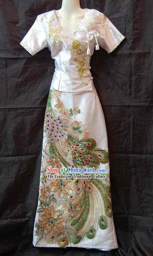 Traditional Thail Wedding Dress for Bride