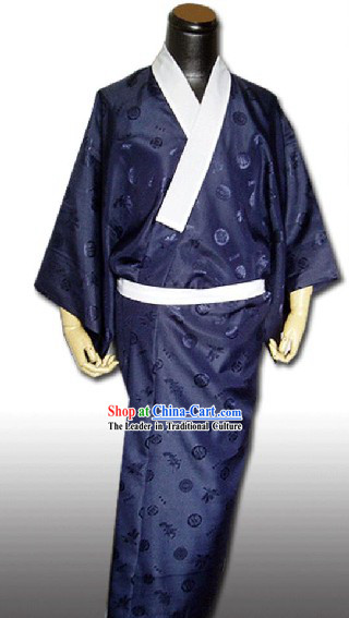 Traditional Japanese Male Kimono Dress