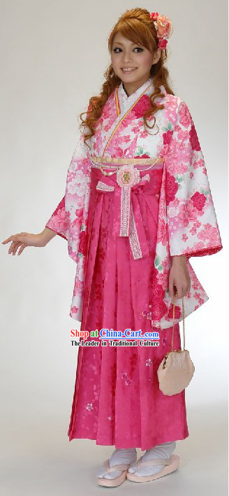 Ancient Japanese Kimono Dress for Women