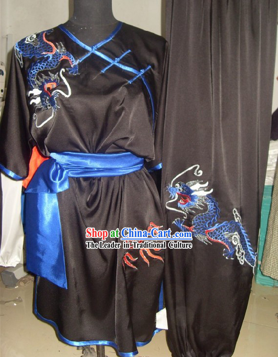 Top Silk Dragon Kung Fu Clothes Complete Set