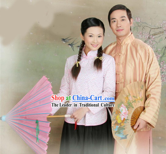 Chinese Minguo Photo Shoot Costumes 2 Sets