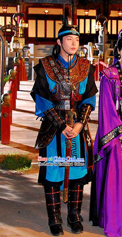 Korean Male Warrior Costume Ancient Korean Hero Costumes Set