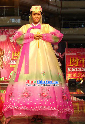Traditional Korean Wedding Dress for Bride