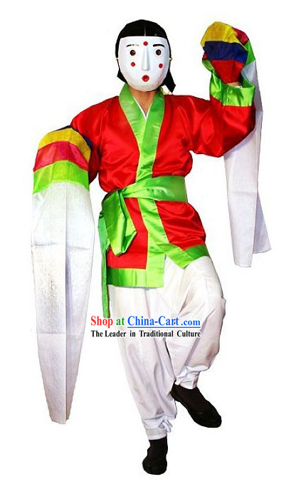 Traditional Korean Mask Dance Costumes Complete Set