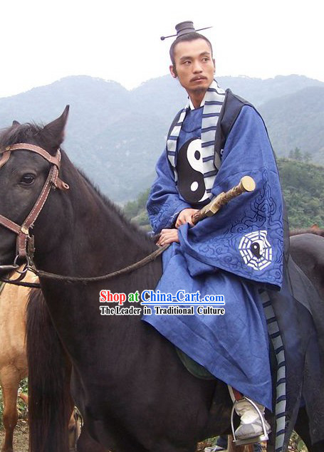 Chinese Wudang Mountain Taoist Master Tai Ji Robe Set