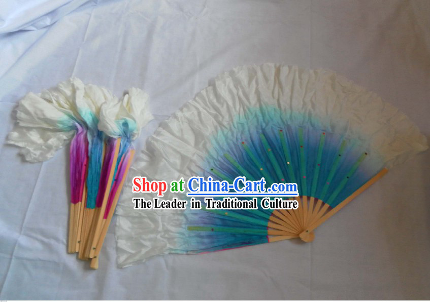 Two Colour Double Sides Chinese Traditional Hand Fans
