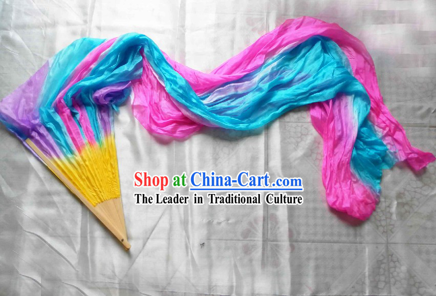 Chinese Long Silk Fans