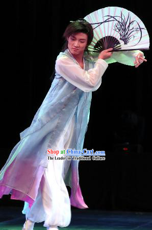 Chinese Fan Dance Costume for Men