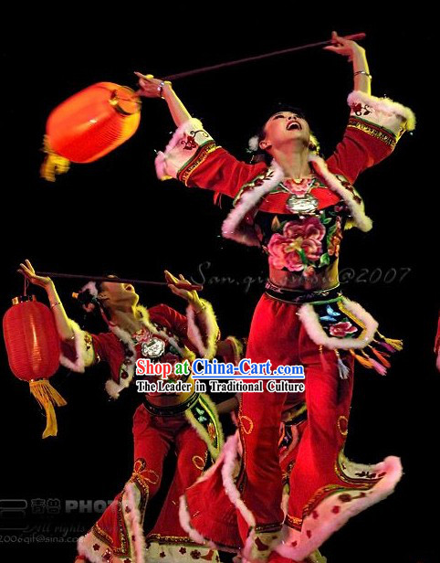 Hong Deng Long Lantern Dance Costume Complete Set