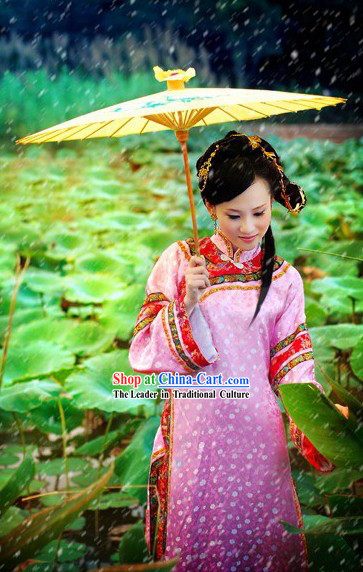 Chinese Ancient Qing Dynasty Lady Dress Complete Set