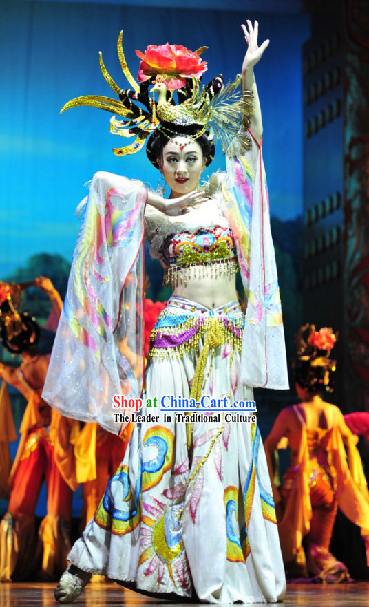 Chinese Empress Phoenix Dance Costume Complete Set
