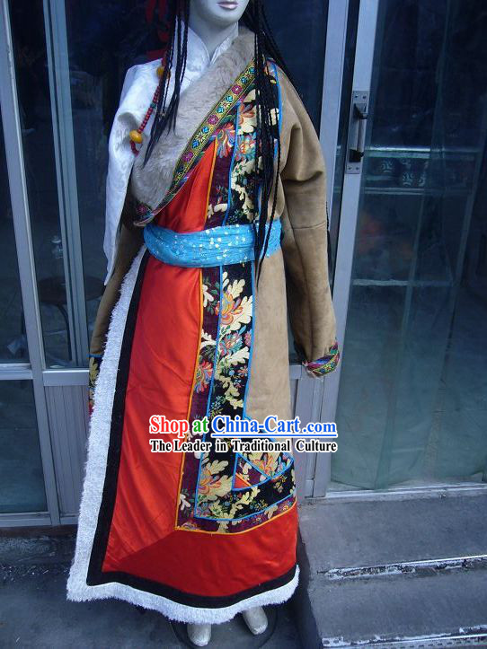 Traditional Tibetan Robe for Men