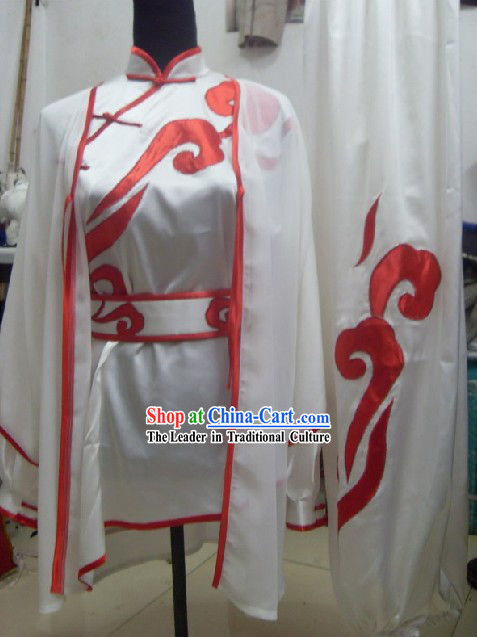 Professional Wushu Competiton Silk Uniform Complete Set