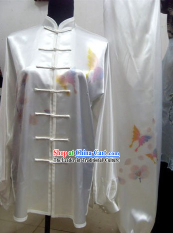 Beautiful Butterfly Kung Fu Silk Uniforms Complete Set