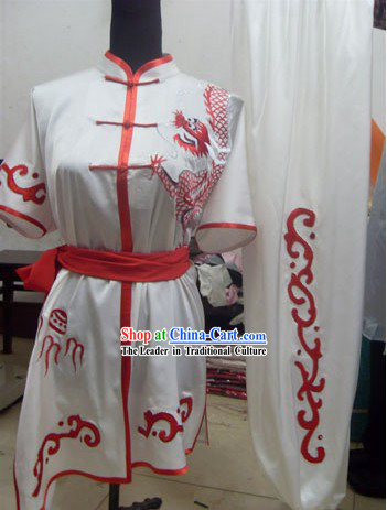 Top Competition and Performance Silk Kung Fu Dragon Uniform