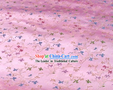 Classical Pink Flower Silk Fabric