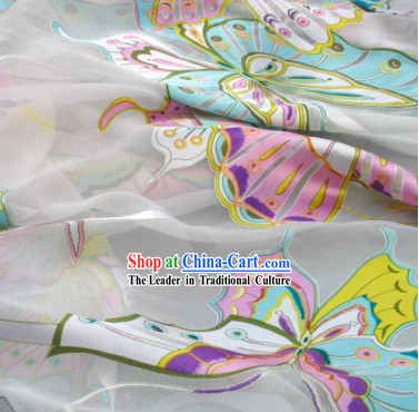 Chinese Classical Butterfly Silk Fabric