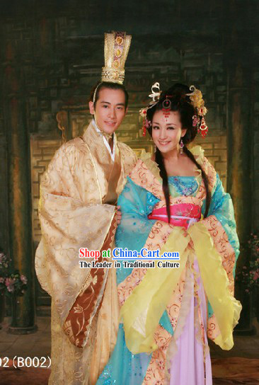 Chinese Ancient Prince Wedding Costumes and Crown Complete Set