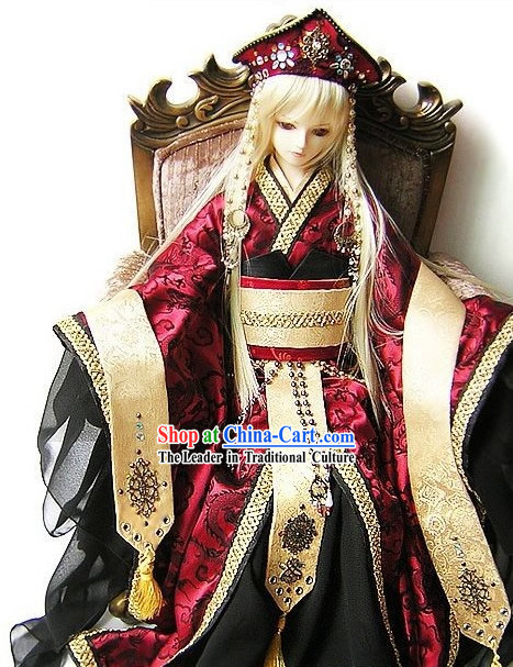 Traditional Japanese Emperor Costume Complete Set