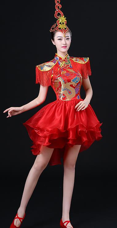 Chinese Modern Phoenix Wedding Dress