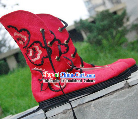 Chinese Classical Embroidered Sandal Summer Boots