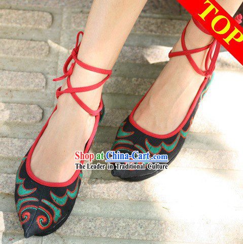 Chinese Minority Embroidered Shoes