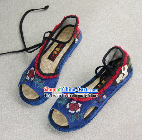 Chinese Traditional Embroidered Summer Sandals