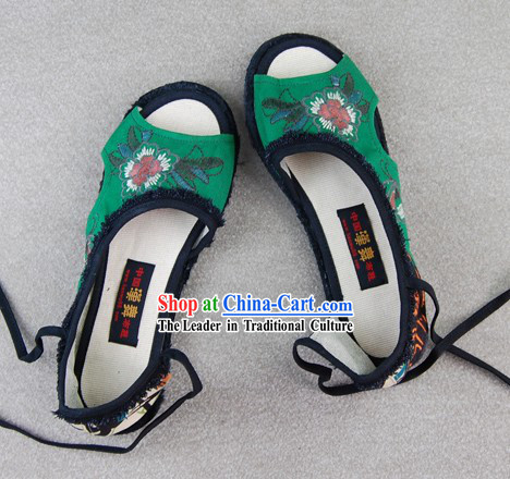 Traditional Chinese Embroidered Summer Shoes