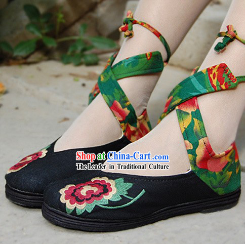 Chinese Traditional Cloth Dance Shoes for Women