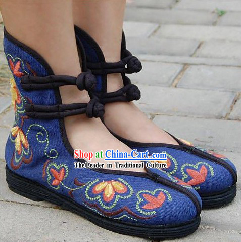 Chinese Traditional Embroidered Dancing Shoes