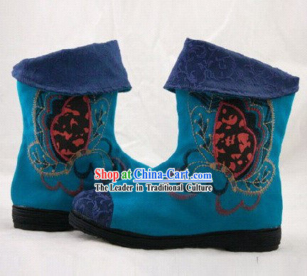 Chinese Embroidered Short Boots