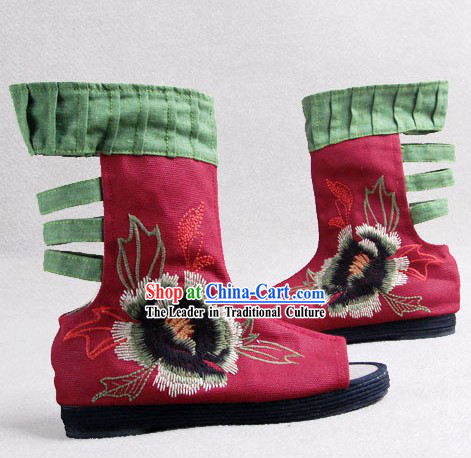Traditional Chinese Embroidery Boots