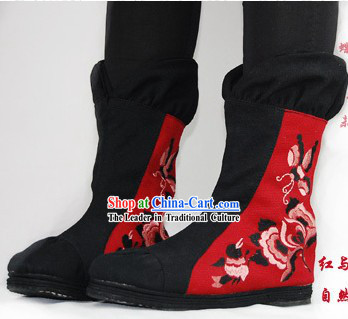 Traditional Chinese Long Boots