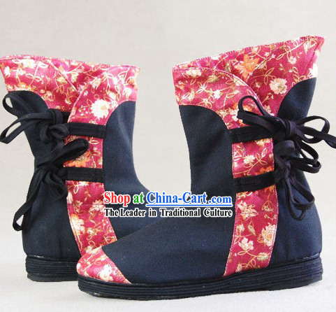 Hand Made Chinese Embroidery Long Boots