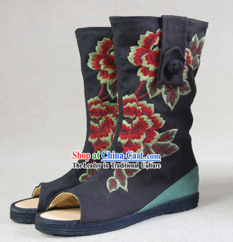 Chinese Embroidery Long Boots