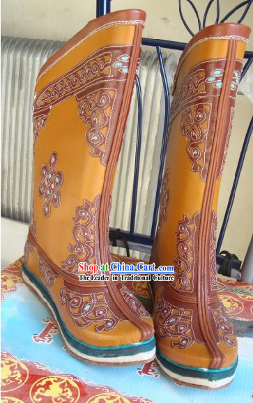 Chinese Classical Mongolian Long Boots