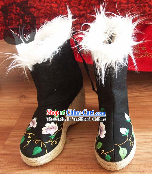 Chinese Traditional Embroidery Boots