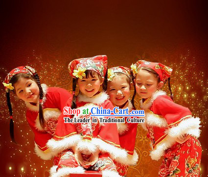 Yang Ge Dance Costume Complete Set for Children