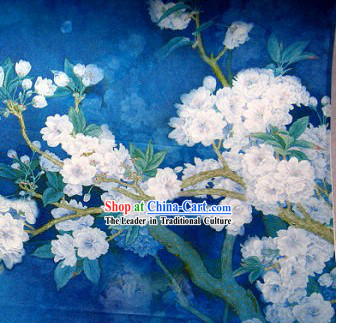 Snow Flower Silk Fabric