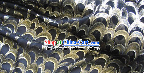 Chinese Peacock Silk Fabric