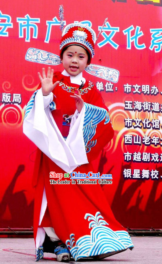 China Peking Opera Official Costume and Hat for Children