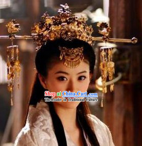 Handmade Tang Wedding Empress Phoenix Crown _ Chinese Wedding Hat