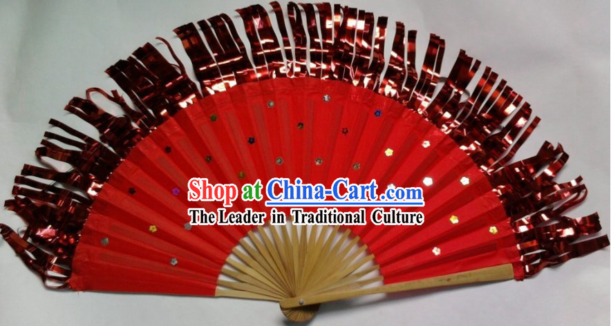Chinese Classical Yangge Fringe Fan