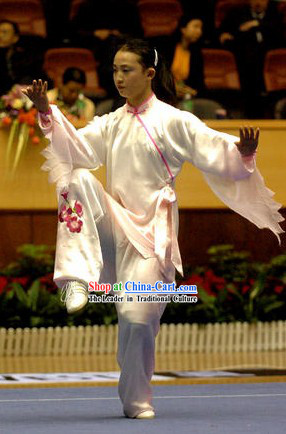 Chinese Professional Silk Tai Chi Clothing Complete Set