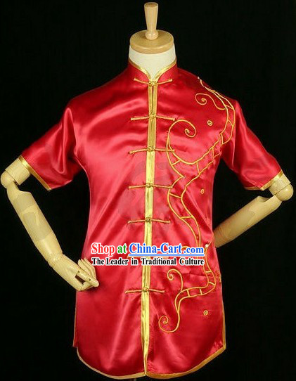 Traditional Lucky Red Wushu Competition Uniform