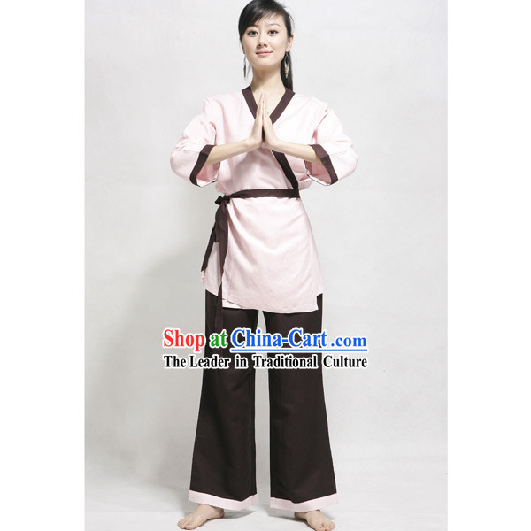 Chinese Flax Tai Chi Kung Fu Suit for Women