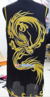 Chinese Dragon Embroidery Tai Chi Silk Robe