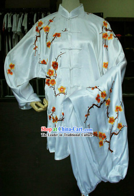 Plum Blossom Embroidery Kung Fu Martial Arts Competition Clothing Complete Set